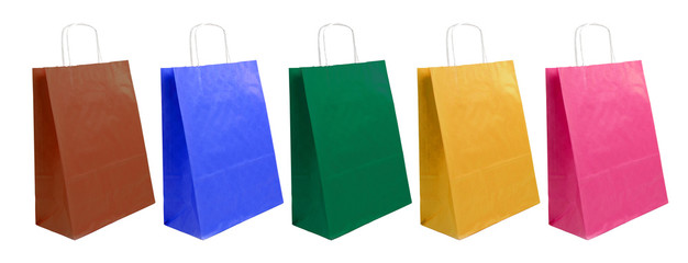 paper bags of different colors