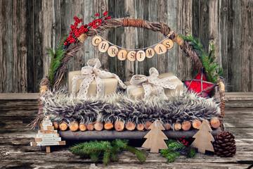 Dekoration an Weihnachten