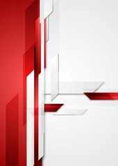 Red tech corporate background