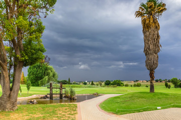 Before the storm. Golf club. South Africa, November 2014.