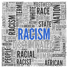 RACISM Concept Word Tag Cloud Design