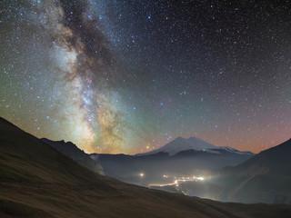 Milky way over Elbrus