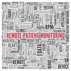 REMOTE PATIENT MONITORING Concept Tag Cloud Design