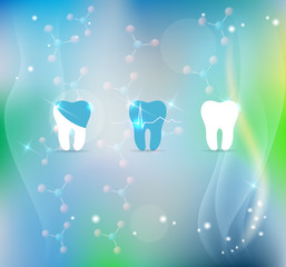 Teeth treatment symbol background