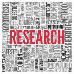 RESEARCH Concept Word Tag Cloud Design
