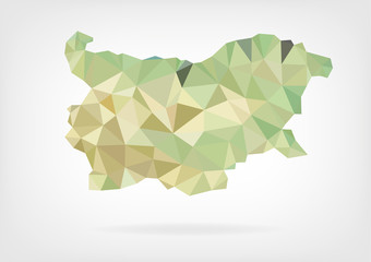 Low Poly Map of Bulgaria