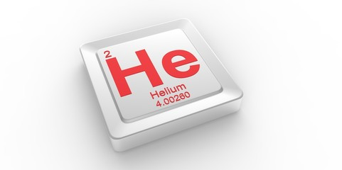 He symbol for Helium chemical element of the periodic table