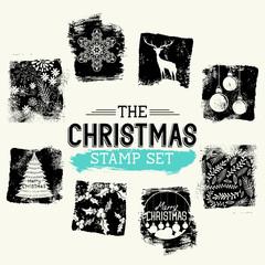Christmas Vintage Stamp Set