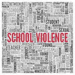 SCHOOL VIOLENCE Concept Word Tag Cloud Design