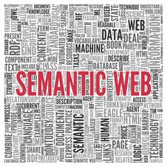 SEMANTIC WEB Concept Word Tag Cloud Design