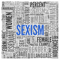 SEXISM Concept Word Tag Cloud Design