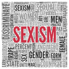 SEXISM Concept Word Tag Cloud Design