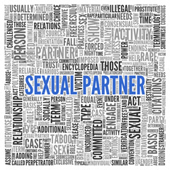 SEXUAL PARTNER Concept in Word Tag Cloud Design