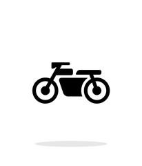 Motorbike simple icon on white background.