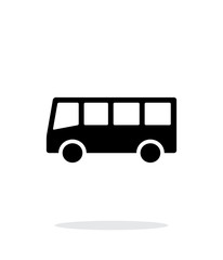 Bus simple icon on white background.