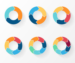 circle arrows for infographic, diagram, graph