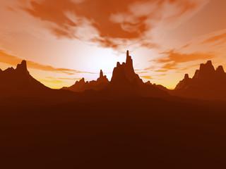 Sunset on the Desert-113c