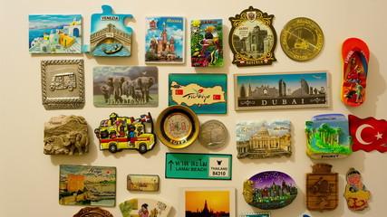 fridge magnets, travel magnets time lapse