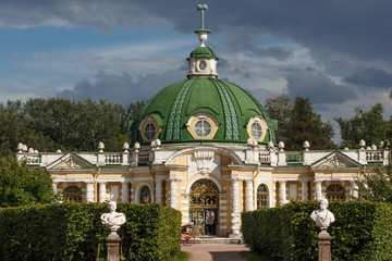 The grotto pavilion in the Park Kuskovo, Moscow