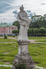 Sculpture of a woman  in the Park Kuskovo, Moscow