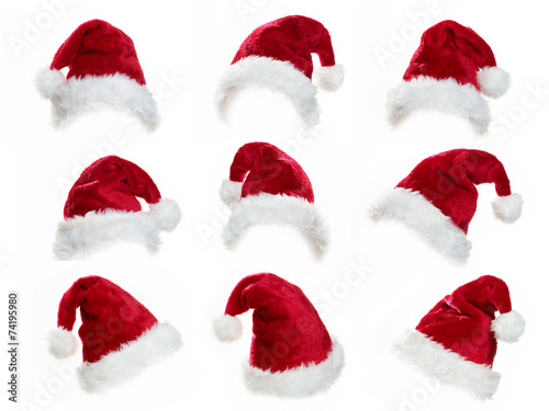 canvas print picture Santa hat collection