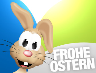 German Happy Easter Frohe Ostern