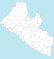 Karte von Liberia