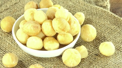 Rotating Macadamia Nuts (seamless loopable)