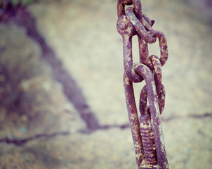 rusty chain in vintage tone