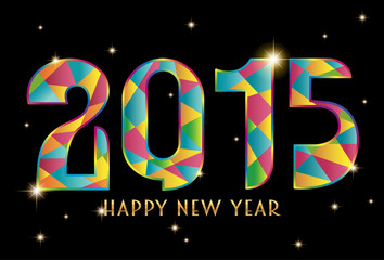 Happy New Year 2015 Color