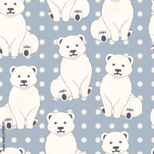 Polar bears seamless pattern - 74196971