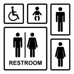 Vector restroom icons set