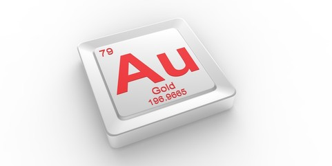 Au symbol 79  for Gold chemical element of the periodic table