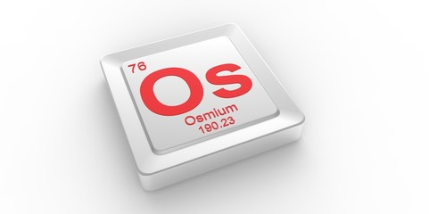 Os symbol 76 for Osmium chemical element of the periodic table