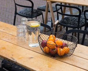 metal fruit basket