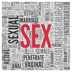 SEX Concept Word Tag Cloud Design