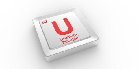 U symbol 92 Uranium chemical element of the periodic table