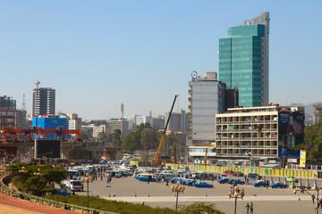 the streets of Addis Ababa Ethiopia
