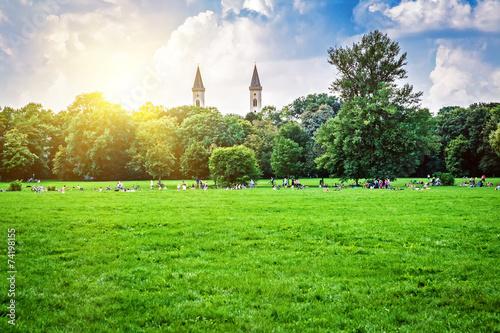 obraz PCV Angielski ogród w Monachium, Bawaria, Niemcy