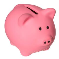 Pink a piggy bank