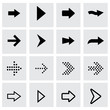 Vector black arrows icon set - 74198700