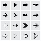 Photo: Vector black arrows icon set