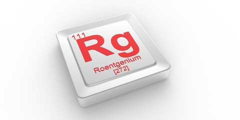 Rg symbol111 for Roentgenium chemical elem of the periodic table