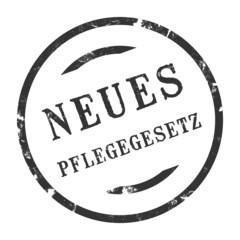 sk209 - StempelGrafik Rund - Neues Pflegegesetz - g2666