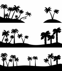 landscapes with palm trees