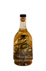 vodka with t snake in a bottle