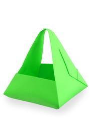 green origami basket