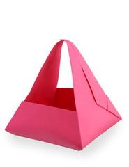 pink origami basket