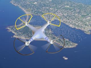 drone over Cape Cod