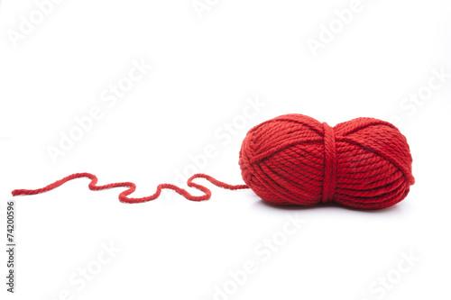 Leinwanddruck Bild Wollknäuel Rot